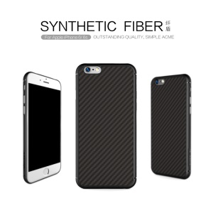 NILLKIN Synthetic Fiber Hard Case for iPhone 6s 6 with Hidden Iron Sheet - Black