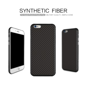 NILLKIN Synthetic Fiber Hard Case for iPhone 6s Plus / 6 Plus with Hidden Iron Sheet - Black