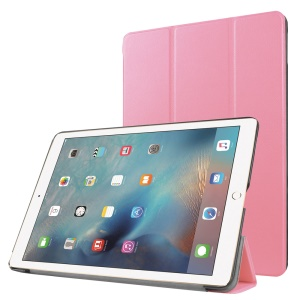 Tri-fold Leather Stand Cover Protector  for iPad Pro 9.7 inch - Pink