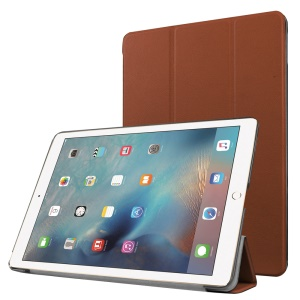 Tri-fold Stand Leather Tablet Cover for iPad Pro 9.7 inch - Brown