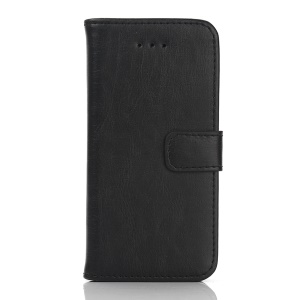 Retro Style Leather Case Wallet Cover for iPhone SE/5s/5 - Black