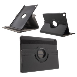 Cloth Skin Leather Case with Swivel Stand for iPad Pro 9.7 Inch - Black