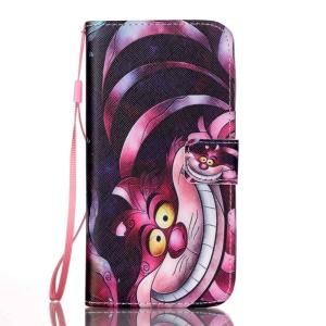 Dual-sided Magnetic Leather Wallet Stand Cover for Samsung Galaxy S7 edge G935 - Cartoon Animal