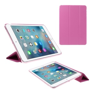 Tri-fold Stand Leather and Protective Cover for iPad Mini 1/2/3 - Rose