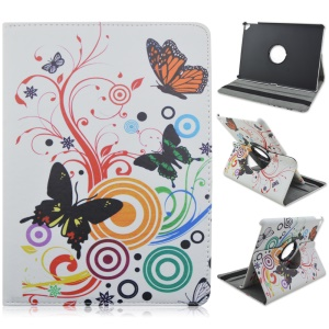 Flip Leather Rotary Stand Tablet Shell for iPad Pro 9.7 inch - Butterfly and Circle