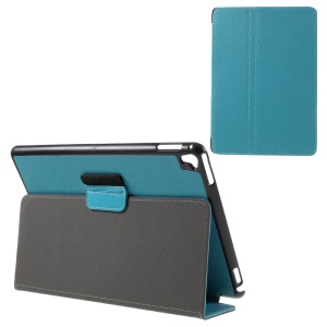 Cloth Skin Protective Leather Stand Case for iPad Pro 9.7 - Baby Blue