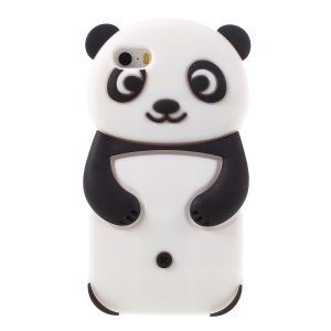 3D Panda Soft Silicone Case for iPhone SE 5s 5 - Black