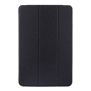 Silk Texture Tri-fold Stand Smart Leather Case for iPad Pro 9.7 inch - Black