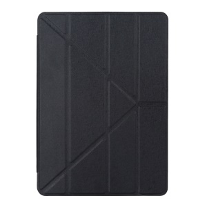 For iPad Pro 9.7 inch Origami Stand Smart Leather Case Silk Texture - Black