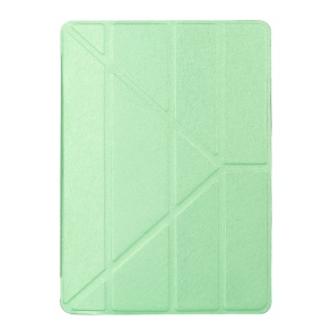 For iPad Pro 9.7 inch Origami Smart Leather Stand Case Silk Texture - Green
