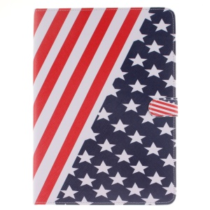 Stand Wallet Smart Leather Case for iPad Pro 9.7 inch - USA American Flag