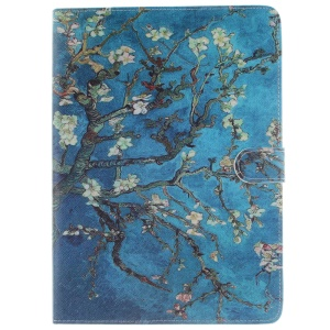 For iPad Pro 9.7 Stand Smart Leather Wallet Case - Van Gogh Almond Tree in Blossom