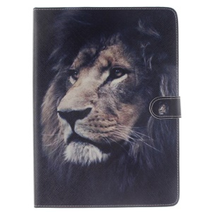 Wallet Stand Leather Smart Shell for iPad Pro 9.7 inch - Lifelike Lion