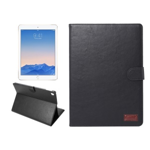 Crazy Horse Stand Wallet Smart Leather Case for iPad Pro 9.7 - Black