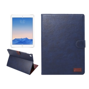 Crazy Horse Stand Wallet Leather Smart Case for iPad Pro 9.7 - Dark Blue