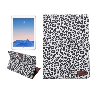 Leopard Skin Smart Leather Case Wallet Cover for iPad Pro 9.7 - White