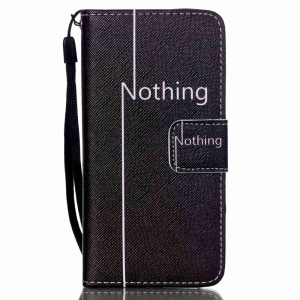PU Leather Folio Shell with Hand Strap for iPod Touch (2019) / Touch 6 / 5 - Nothing