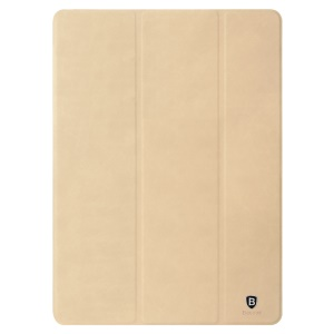 BASEUS Teser Series Tri-fold Smart Leather Case Stand for iPad Pro 9.7 - Khaki