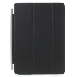 Single Piece Tri-fold Stand Smart Leather Case for iPad Pro 9.7 inch - Black