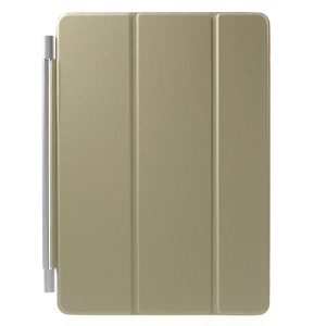 Single Piece Tri-fold Stand Smart Leather Cover for iPad Pro 9.7 inch - Champagne