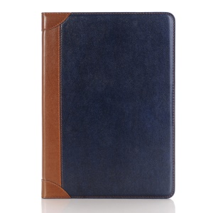 Leather Wallet Stand Flip Shell Cover for iPad Pro 9.7-inch - Blue