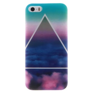 IMD Glossy TPU Cover for iPhone SE/5s/5 - Triangle and Cloud