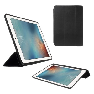 Tri-fold Stand Smart Leather Case for iPad Pro 9.7 inch - Black