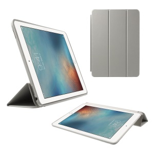 Tri-fold Stand Smart Leather Shell for iPad Pro 9.7 inch - Grey