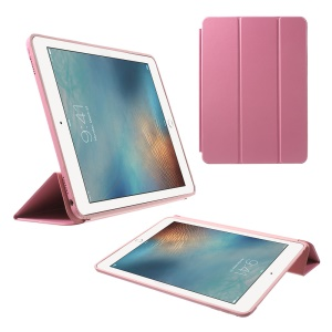 Tri-fold Stand Smart PU Leather Case for iPad Pro 9.7 inch - Pink