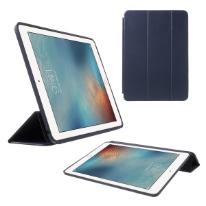 Tri-fold Stand Wake/Sleep PU Leather Cover for iPad Pro 9.7 inch - Dark Blue