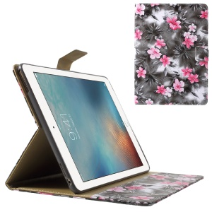 Blooming Flower Leather Case Wallet Cover for iPad Pro 9.7 - Grey