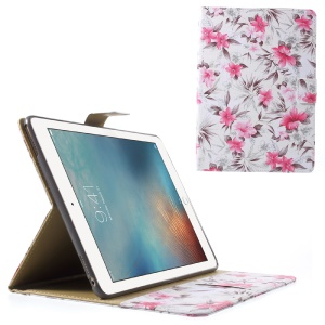 Blooming Flower Leather Stand Case Cover for iPad Pro 9.7 - White