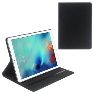 DOORMOON Flip Stand Genuine Leather Smart Case for iPad Pro 9.7 inch - Black