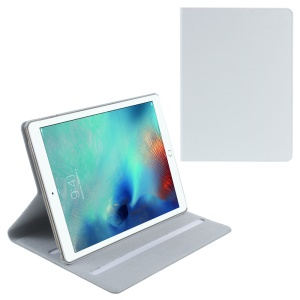 DOORMOON Flip Stand Genuine Leather Smart Cover for iPad Pro 9.7 inch - White