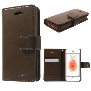 MERCURY GOOSPERY Mansoor Wallet Leather Case for iPhone SE/5s/5 - Coffee
