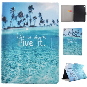 Smart Leather Case Fragrant Cover for iPad Pro 9.7 - Quote Life Is Short Live It