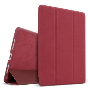 Deerskin Texture Tri-Fold Stand Leather Smart Cover for iPad Pro 9.7 inch - Red