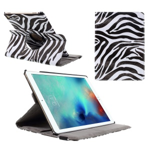 360 Rotation Stand Leather Case for iPad Pro 9.7 inch - Zebra Pattern