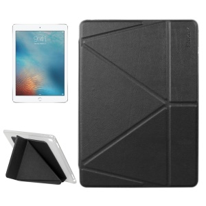 ENKAY Origami Stand Leather Smart Case for iPad Pro 9.7 inch - Black