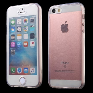 Touchable Screen Clear Soft TPU Case for iPhone SE/5s/5 - Transparent