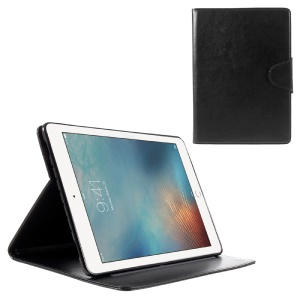 Crazy Horse Rotating Stand Smart Leather Case for iPad Pro 9.7 inch - Black