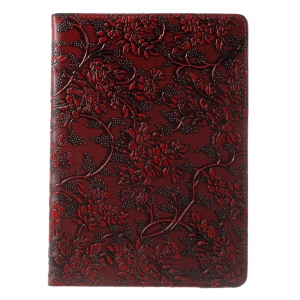 Grapevine Pattern Swivel Stand Leather Tablet Case for iPad Pro 9.7 - Red