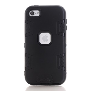 3-piece PC & TPU Hybrid Case for iPod Touch 6 - Black