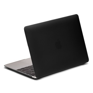 LENTION Sand Series Matte Hard Case for Macbook 12 inch with Retina Display (2015) - Black