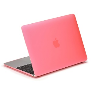 LENTION Sand Series Matte PC Case for Macbook 12 inch with Retina Display (2015) - Rose