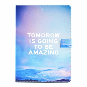 Patterned Smart Leather Card Holder Flip Cover for iPad Pro 9.7 inch - Motto