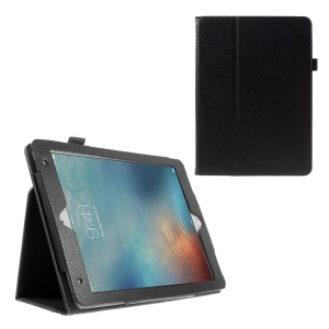 Litchi Texture Stand Leather Smart Case for iPad Pro 9.7 inch - Black