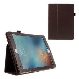 Litchi Texture Leather Case Smart Cover for iPad Pro 9.7 inch - Brown