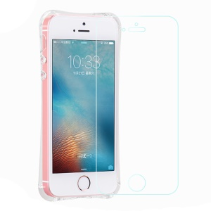 HOCO Armor Series for iPhone SE/5s/5 TPU Case with Tempered Glass Screen Protector