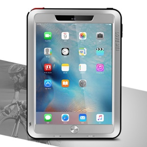 LOVE MEI for iPad Pro 9.7 Powerful Shockproof Dropproof Dustproof Protection Case - Silver